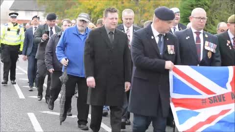 Veterans march in Newport protest