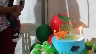 Toddlers reaction to his birthday song
