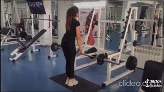 Training girl
