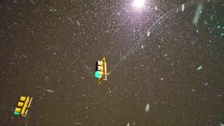 Snow Falling in Saskatoon