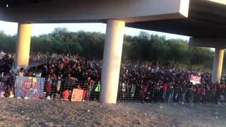 Over 10,000 Migrants Gather Under Bridge At Texas Border