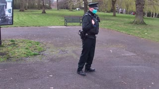Armed masked group patolling a park in Belfast, refuse to answer a simple question