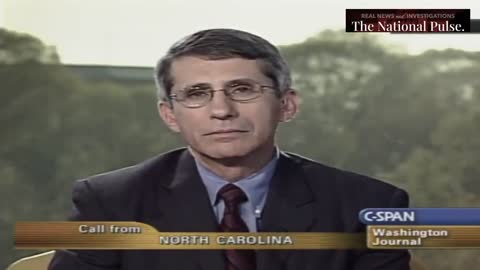 Old Video Shows CSPAN Caller Telling Fauci To Resign