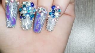 Dip powder bling nails
