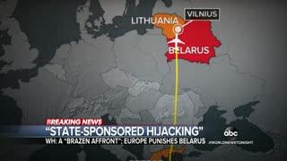 EU imposes sanctions on Belarus over 'hijacked' Ryanair flight
