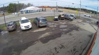 Dump Truck Tires Tumble Down Road