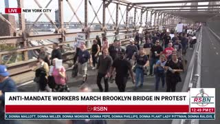NYC Workers Anti-Mandate - March For Choice, LIVE from NYC 10/25/21