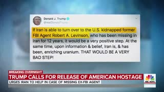 Trump calls for Iran to 'turn over' Robert Levinson