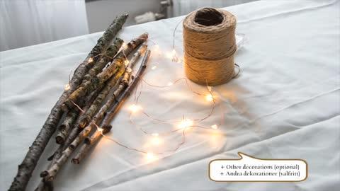 DIY Christmas decoration - Easy branch christmas tree