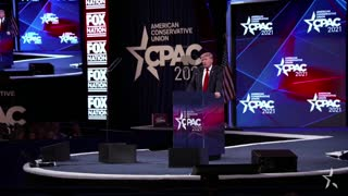 President Donald Trump Speaks at CPAC Texas on July 11, 2021