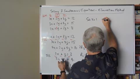Math 3 Simultaneous Equations 01 Elimination Method