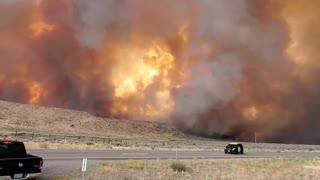 Loyalton Fire near Nevada-California border heading towards 395