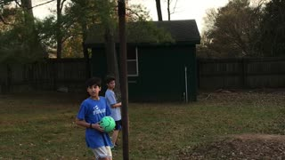 Soccer Ball Trick Shot