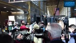 Michigan Senate Majority Leader Mike Shirkey sings hymn to reporter, gets met by protesters