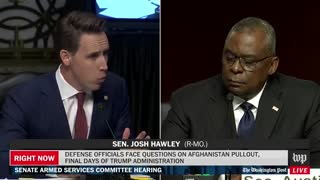 Hawley NUKES Austin For Abandoning Americans In Afghanistan