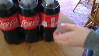 Simple trick to open 6 pack of bottles