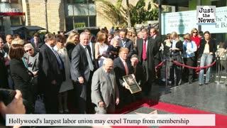 Hollywood union considering expulsion of former President Trump