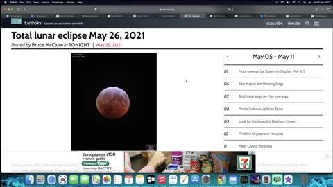 8TH BLOOD MOON TETRAD... 8TH BLOOD MOON... MAY 26, 2021