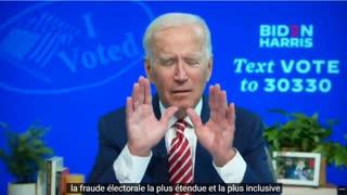 Joe Biden admet d'avance qu'il a fraudé les élections