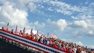 Pledge of Allegiance at Trump Rally in Jacksonville, FL