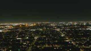 Autel Evo 2 Night flight over Denver Harbor 4K 60 fps auto exposure