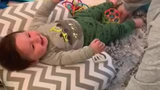 """Baby preciously laughs every time dad calls him """"perfect"""""""