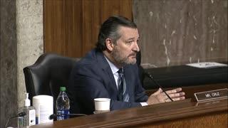 Big Tech Hearing - Senator Cruz questions Twitter CEO on blocking stats
