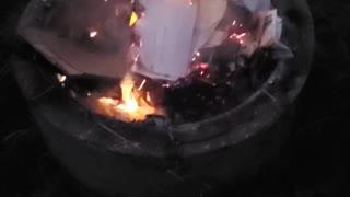 Making a bonfire