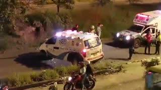 Ambulancia se accidentó en la Autopista a Floridablanca