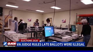 Va. judge rules late ballots were illegal
