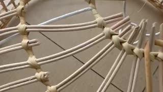 rattan chandelier weaving