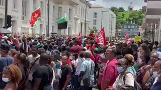 Protests Against Vaccine Passports, Port-au-Prince