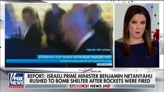 Netanyahu rushed to bomb shelter after rocket attack on Israel
