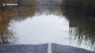 Storm Christoph brings flooding to a Yorkshire village