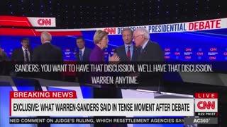 Elizabeth Warren confronts Bernie Sanders
