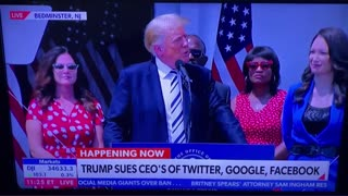 President Trump Announced Class Action Lawsuit Against Google, Facebook, and Twitter.