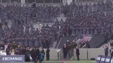 President Trump is popular at the Army-Navy game, college football's biggest rivalry.