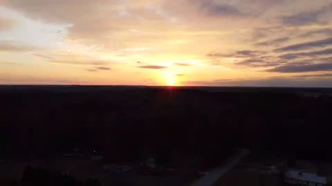 Drone size film sunset