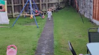 Running wild in garden