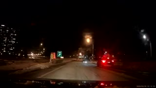 Lady Crashes into Exit Divider
