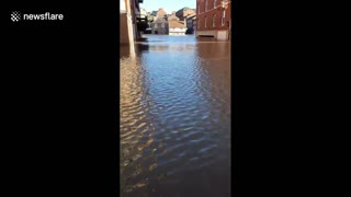 Severe flooding in Yorkshire as UK ravaged by Storm Christoph