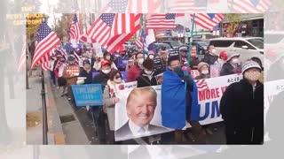 Massive Trump Rally in Osaka Japan.