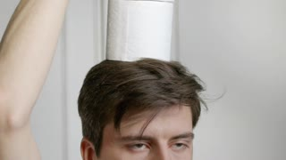 Playing With Toilet Paper - Funny