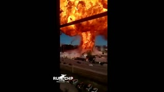 Gas station explosion station