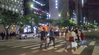 Seoul Gangnam Station many people 2