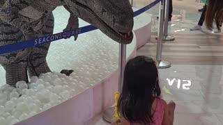 Dani with the dinosaur