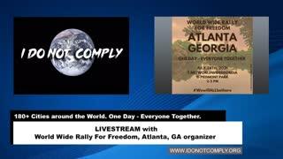 Livestream with Worldwide Freedom Atlanta, GA rally organizer