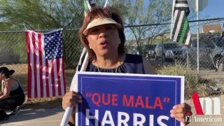 Protestors Greet Kamala Harris at the Border