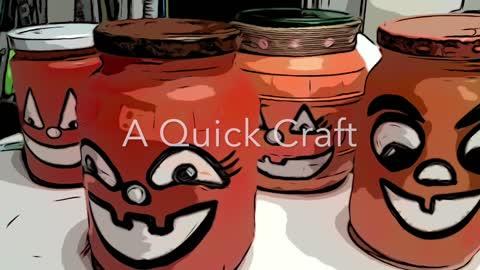 Pumpkin Jar Craft