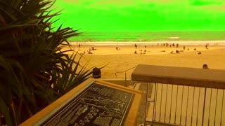 Green Screen Golden Surf Beach for YouTube Video Creators
